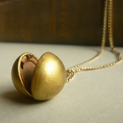 Antique Gold Sphere Locket