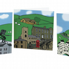5 Yorkshire Cyclist greeting cards inspired by Tour de France