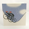 Cyclist Christmas card