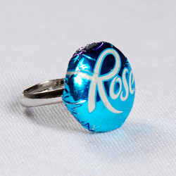 Cadbury Blue Roses Ring