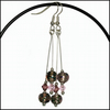 Silver and Pink Speckle Earrings