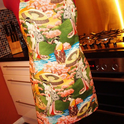 Beautiful Japanese Geisha Print Apron