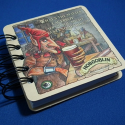 Hobgoblin beer mat recycled notebook