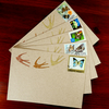 SALE: Notecards x 5 - wildlife postage stamps