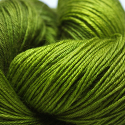 'Lichen' - Bluefaced Leicester & Silk sock weight yarn (hand dyed)