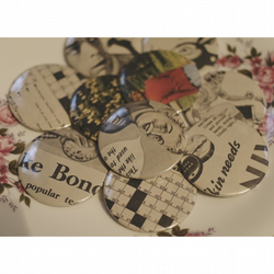 Maisie - TEN Vintage Picture Post Advert Pocket Mirrors