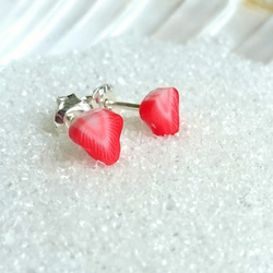 Sterling Silver Strawberry stud earrings small