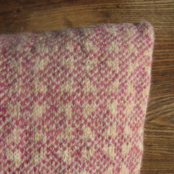 Pure Wool Cushion Fair Isle Pink