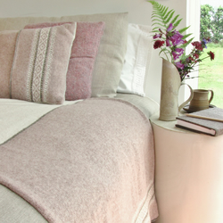 Fair Isle Cushion Pure Wool Pink