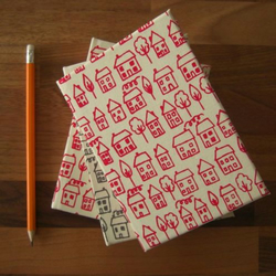 avenue - screenprinted fabric sketchbook OR notebook
