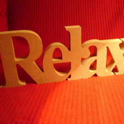Wooden RELAX Sign 12cm high