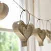 Shakespearean paper garland of hearts