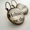 Literary earrings - Holmes and Watson