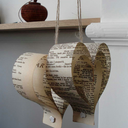Beige Wedding Decorations, Shakespeare Paper Hearts