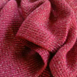 """Rouge Blush"" Deep Pink and Gold Lurex Shawl-Wrap"