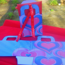 Valentine blue gift bag