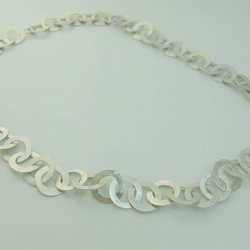 Hammered Satin Silver Chain