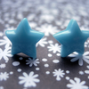 CUTE STUD EARRINGS Tiny Baby Blue Stars
