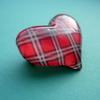 I Heart Tartan RED brooch