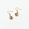 Short and small Lightweight Gold Plated Dangly Earrings