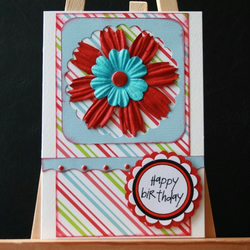 Bright flower Happy Birthday card