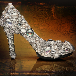 d338264a6 CROWN JEWELS.. sparkly crystal, glass and pearl wedding shoes