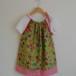 LAST ONE IN STOCK Russian Doll print Dress age 1-2 years