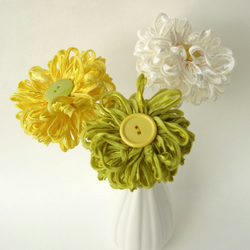 Choose 3 Flowers Ribbon Flower Bouquet