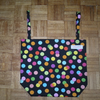 Shopping Bag In Black and Spot Print Fabric
