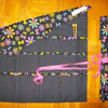 Roll Up Knitting Needle Holder in Bright Flower Print