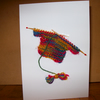 Greetings Card with Knitted Jumper