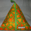 Pyramid Purse in Orange and Green