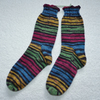 Hand Knit Socks Size 3-5 in 4 ply self stripping yarn