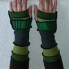 Upcycled Sweater ArmWarmers in Greens