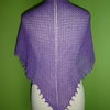 Shawl Triangular Scarf  in Purple Colour Silk and Cashmere Lace Weight Yarn