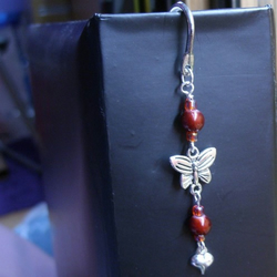 Butterfly and Heart Beaded Bookmark