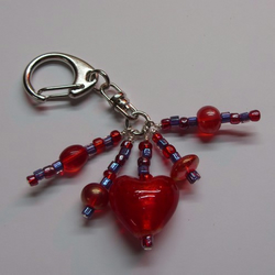 *SALE*Red & Purple Bag Charm
