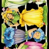 Paper Scrap Die Cut Reliefs by EF Germany, Lithograph, Flower Girls