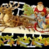 Paper Scrap Die Cut Reliefs by EF Germany, Lithograph, Santa