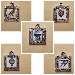 little picture frame charms/pendants