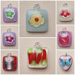 small handmade resin pendants (125)