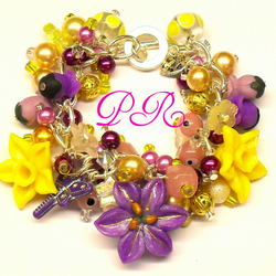 Pineapple Sunshine Charm Bracelet