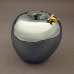 Silver Apple with Insect ( antique finish )