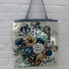 'FEELING BLUE?'  Vintage Linen Tote Bag