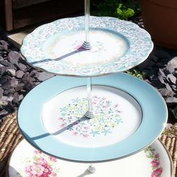 Pale Blue Vintage Cake Stand