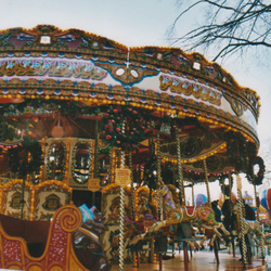 Carousel - 4''x6'' Print in Ivory 8''x10'' Mount