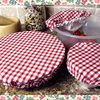Pack of Fabric Shabby Chic Eco - Friendly Bowl Covers