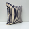 Navy Blue and Cream Ticking Striped Cushion Cover