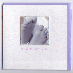 'New Baby Girl' Little feet card NBGPH