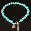 Miracle Illusion Bubblegum Bead Anklet With Charm